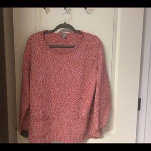 J. Jill Marbled 2 Pocket Sweater EUC